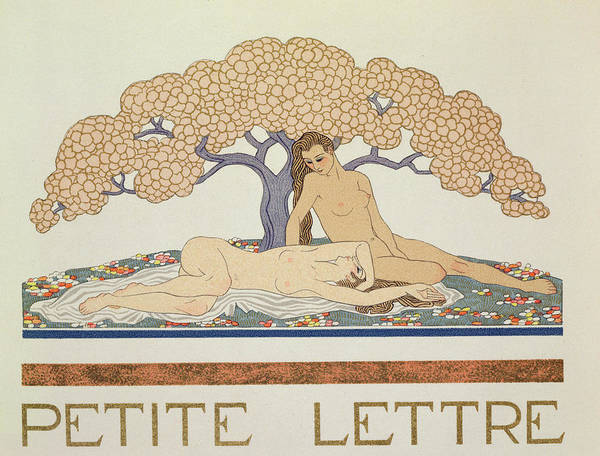 Blanket Painting - Female Nudes by Georges Barbier