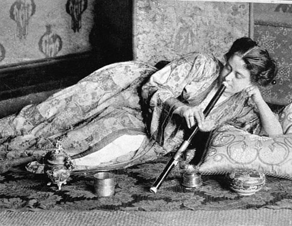 Female Opium Smoker, 1909 Art Print