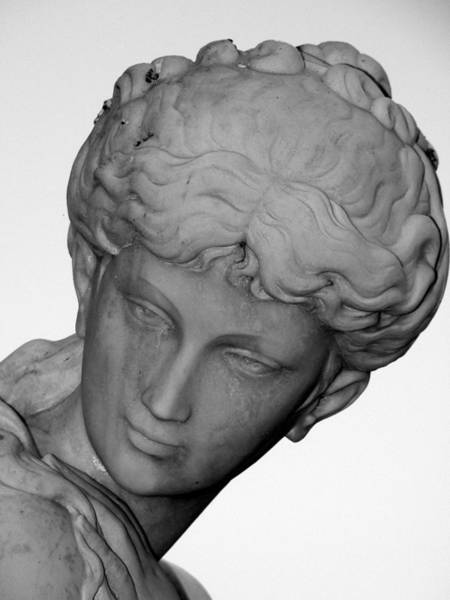 Photograph - Female Statue Head  by Jeff Lowe
