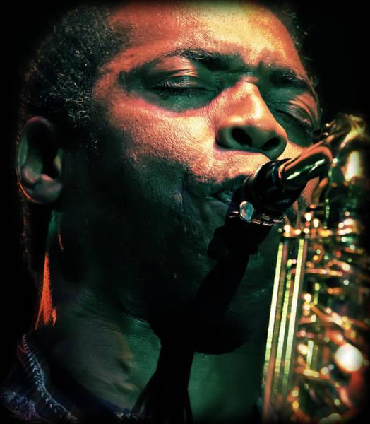 Summerfest Photograph - Femi Kuti On Saxophone  by Jennifer Rondinelli Reilly - Fine Art Photography