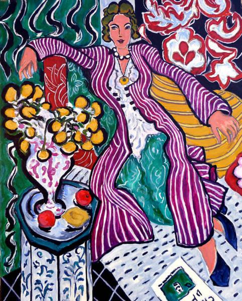 Painting - Femme Au Manteau Violet by Tom Roderick