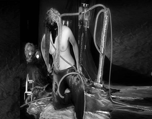 Photograph - Femme Avec Les Couteaux 14 by Tarey Potter