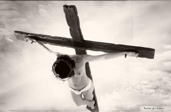 Crucifiction Wall Art - Photograph - Femme En Croix I by Ramon Martinez