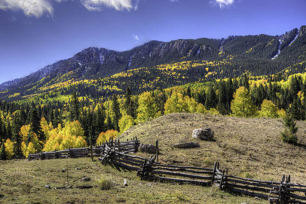 Photograph - Fence And Fall Colors by David Waldrop
