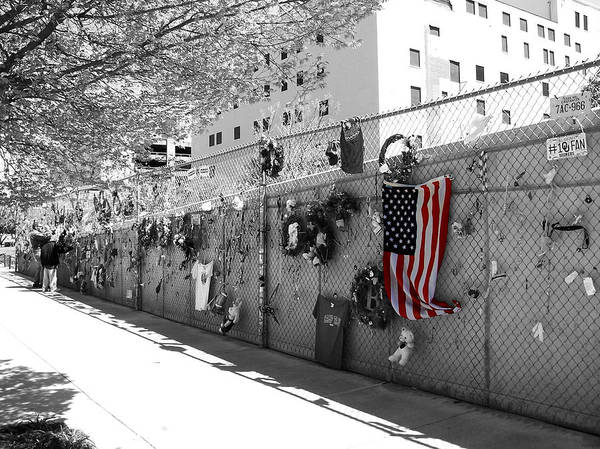 Photograph - Fence At The Oklahoma City Bombing Memorial by Beverly Stapleton