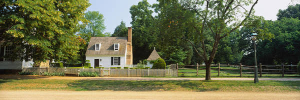 Colonial Williamsburg Photograph - Fence In Front Of A House, Colonial by Panoramic Images