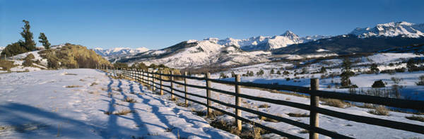 Telluride Photograph - Fence On A Landscape, Telluride by Panoramic Images