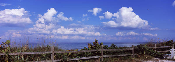 Manatee Photograph - Fence On The Beach, Tampa Bay, Gulf Of by Panoramic Images