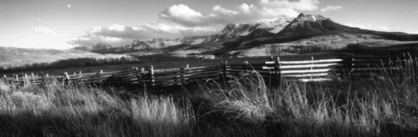 Telluride Photograph - Fence With Mountains In The Background by Panoramic Images
