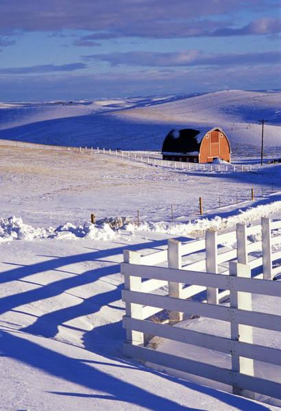 Wall Art - Photograph - Fenced Barn by Latah Trail Foundation