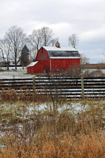 Photograph - Fenced In Barn by Jennifer Robin