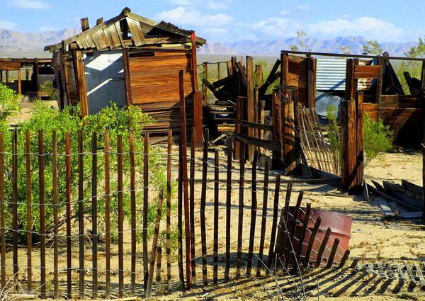 Desolation Photograph - Fences Make Good Neighbors by Randall Weidner