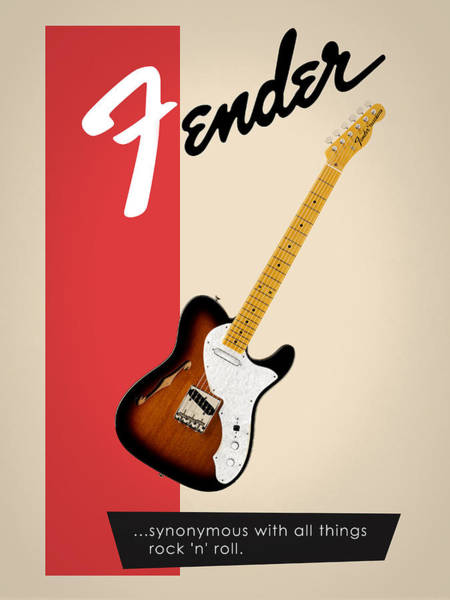 Wall Art - Photograph - Fender All Things Rock N Roll by Mark Rogan
