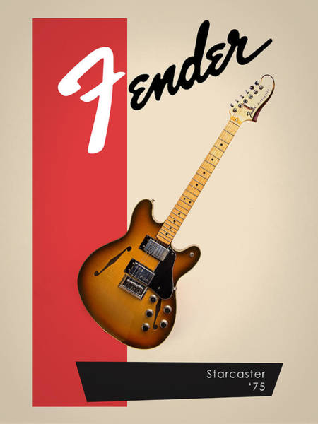 Wall Art - Photograph - Fender Starcaster 75 by Mark Rogan