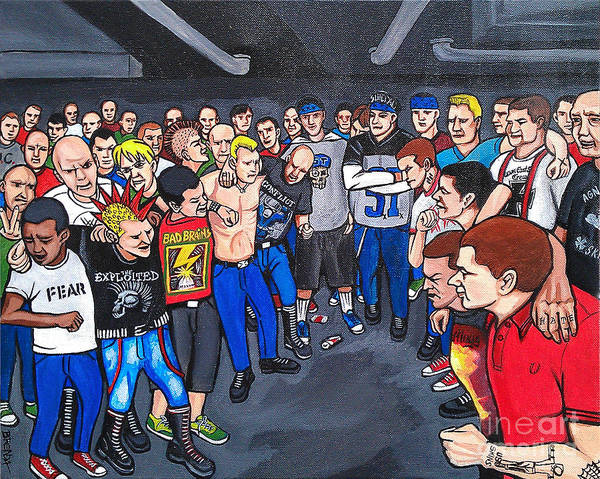 Agnostic Painting - Fender's 80's Punk Club by Brenda Kato