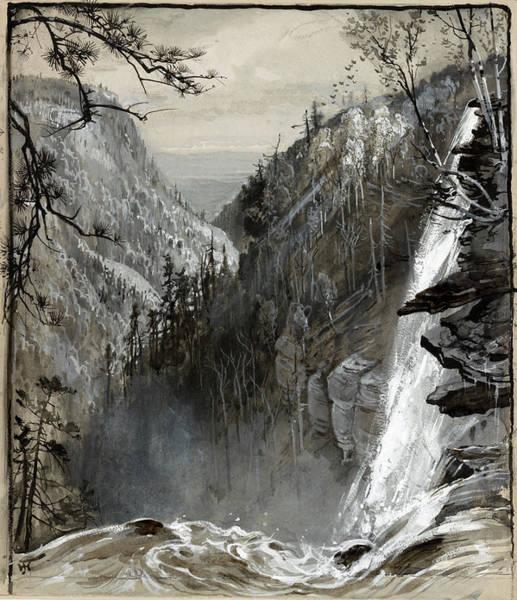 Catskill Drawing - Fenn Catskills, C1883 by Granger