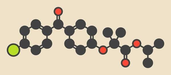 Cholesterol Photograph - Fenofibrate Cholesterol Drug Molecule by Molekuul