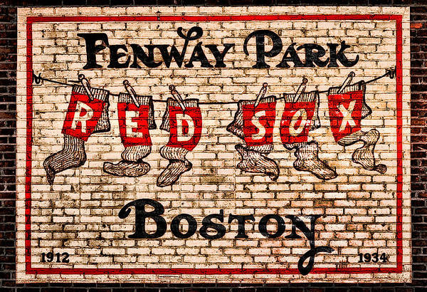 Photograph - Fenway Park Boston Redsox Sign by Bill Cannon