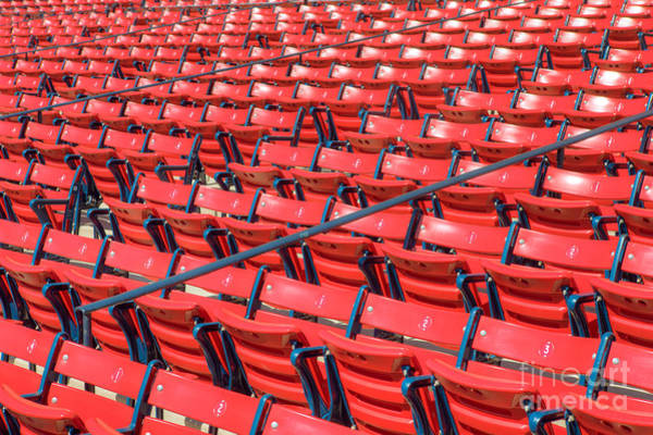 Photograph - Fenway Park Grandstand Seats I by Clarence Holmes