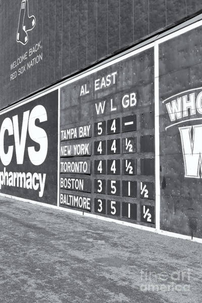 Fenway Park Green Monster Scoreboard II Art Print