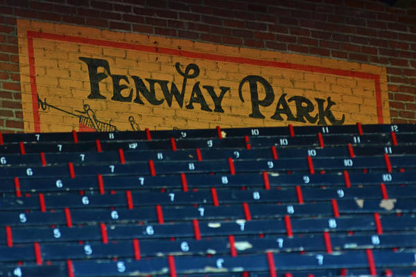 Photograph - Fenway Park Sign And Seats by Toby McGuire