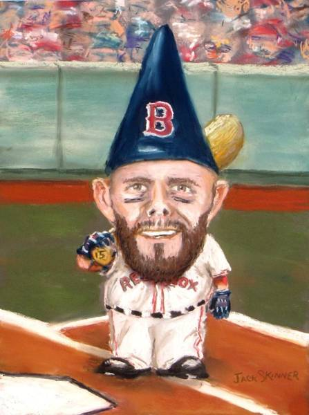 Wall Art - Painting - Fenway's Garden Gnome by Jack Skinner