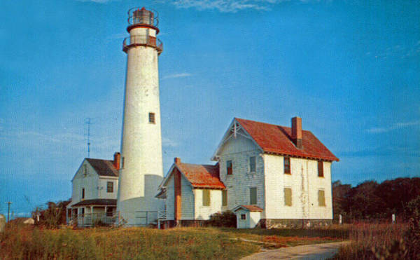 Delaware Photograph - Fenwick Island Lighthouse 1950 by Skip Willits