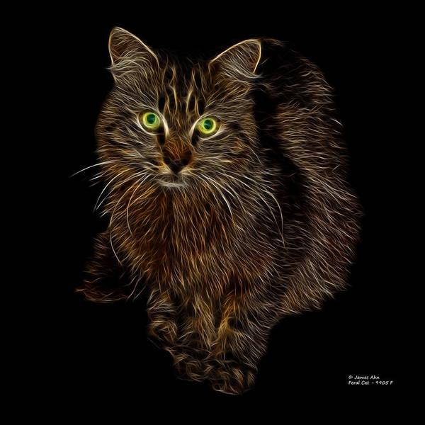 Digital Art - Feral Cat - 9905 F by James Ahn