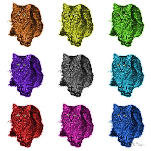 Digital Art - Feral Cat - 9905 F M - Wb by James Ahn