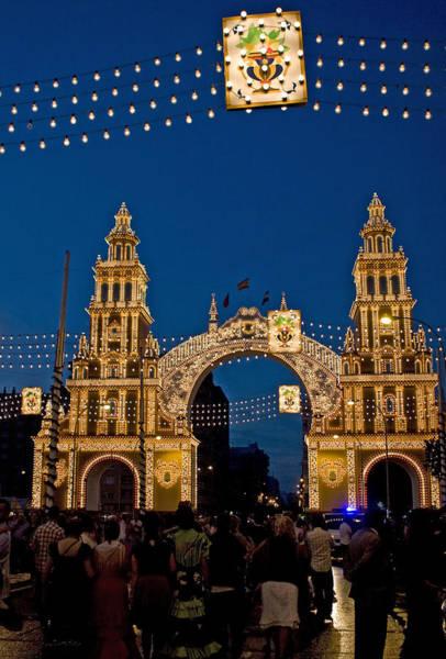 Photograph - Feria Gate At Night by Lorraine Devon Wilke