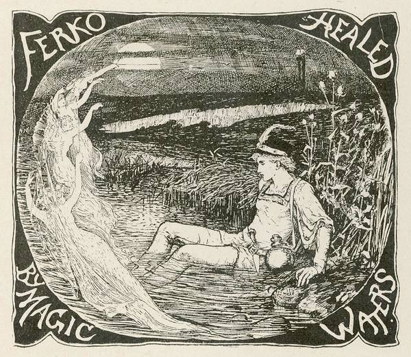 Wall Art - Drawing - Ferko Is Healed By The Magic  Waters by Mary Evans Picture Library