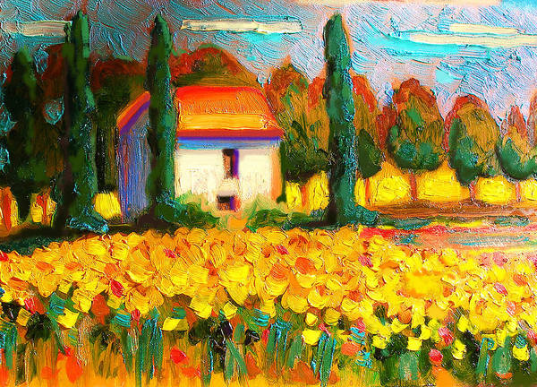 Susi Wall Art - Painting - Ferme Tournesol  by Susi Franco