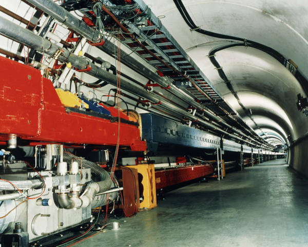 Proton Photograph - Fermilab Tevatron Accelerator by Fermilab/science Photo Library
