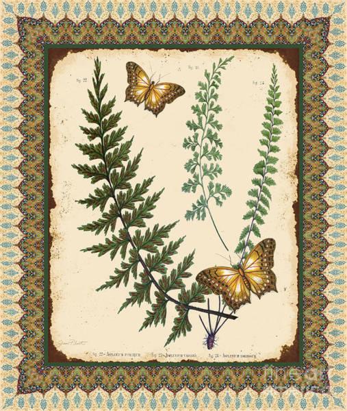 Ferns Digital Art - Fern Tapestry-c by Jean Plout