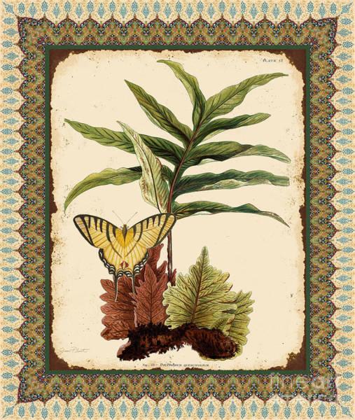 Botanical Digital Art - Fern Tapestry-e by Jean Plout