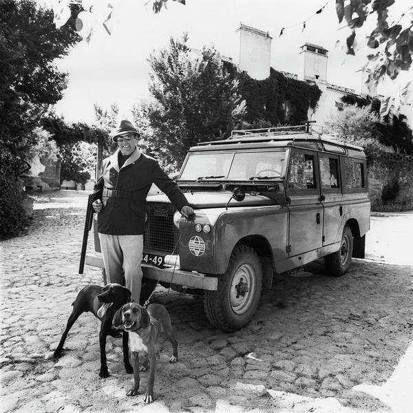Monochrome Photograph - Fernando Fernandez Holding A Winchester Gun by Leonard Nones
