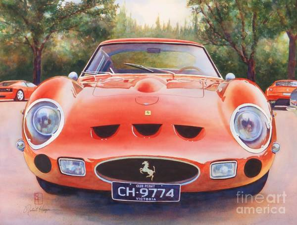 Wall Art - Painting - Ferrari 250 Gto by Robert Hooper