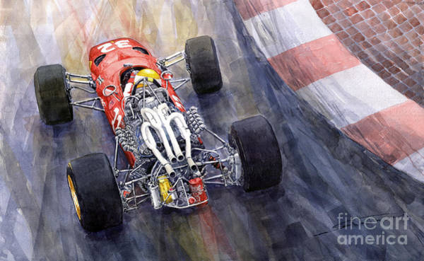 Wall Art - Painting - Ferrari 312 F1 1967 by Yuriy Shevchuk