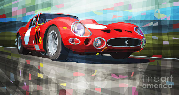Wall Art - Digital Art - Ferrari 330 Gto 1962 by Yuriy Shevchuk