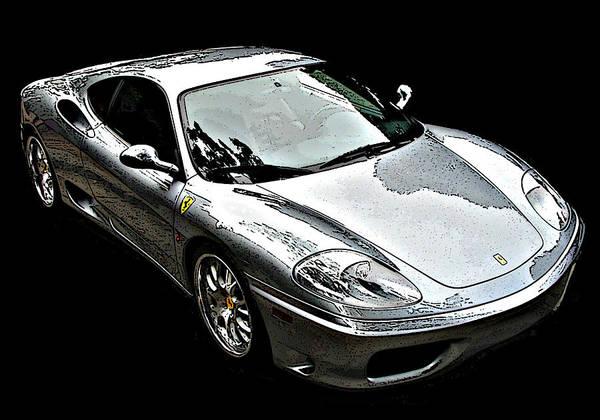 Photograph - Ferrari 360 Modena In Silver by Samuel Sheats