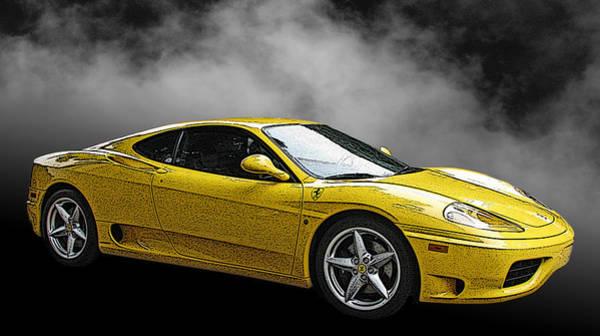 Ferrari 360 Modena Side View Art Print