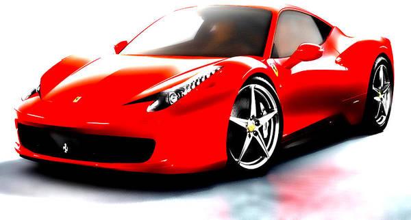 Super Car Mixed Media - Ferrari 458 by Brian Reaves