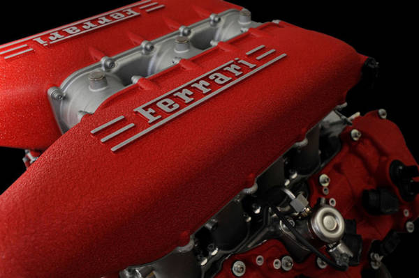 Super Car Mixed Media - Ferrari 458 Italia Coupe Engine by Marvin Blaine