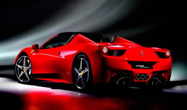 Super Car Mixed Media - Ferrari 458 Spider by Brian Reaves