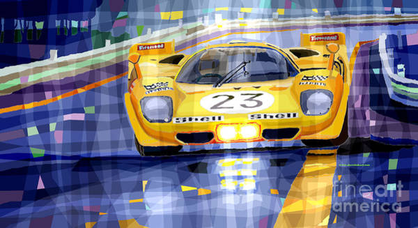 Bell Digital Art - Ferrari 512 S Spa 1970 Derek Bell  by Yuriy Shevchuk