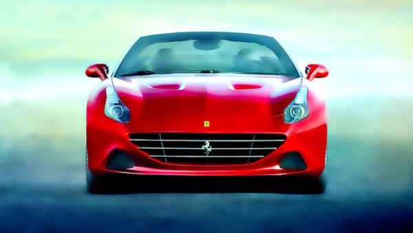 Super Car Mixed Media - Ferrari California by Brian Reaves
