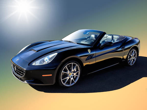 Wall Art - Digital Art - Ferrari California by Douglas Pittman