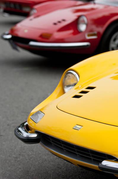 Auto Show Photograph - Ferrari Dinos -0676c by Jill Reger