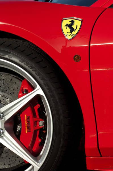 Photograph - Ferrari Emblem 3 by Jill Reger