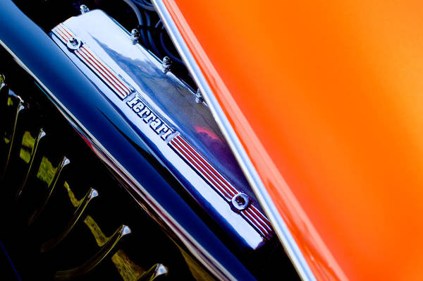 Photograph - Ferrari Engine - 2011 Frank Lockhart Tribute Boattail Speedster Custom Roadster  by Jill Reger